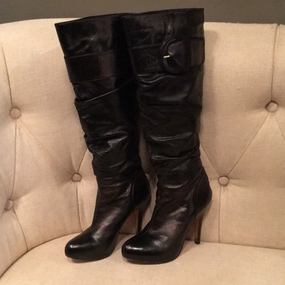 Nordstrom Tall Black Boots Size
